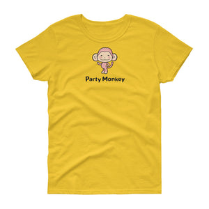 Uncle Bobo's Party Monkey Women's T-shirt Yellow