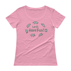 Uncle Bobo's Have Fun Ladies' Scoopneck T-Shirt Pink
