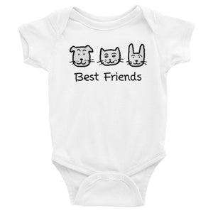 Uncle Bobo's Best Friends Infant Bodysuit White