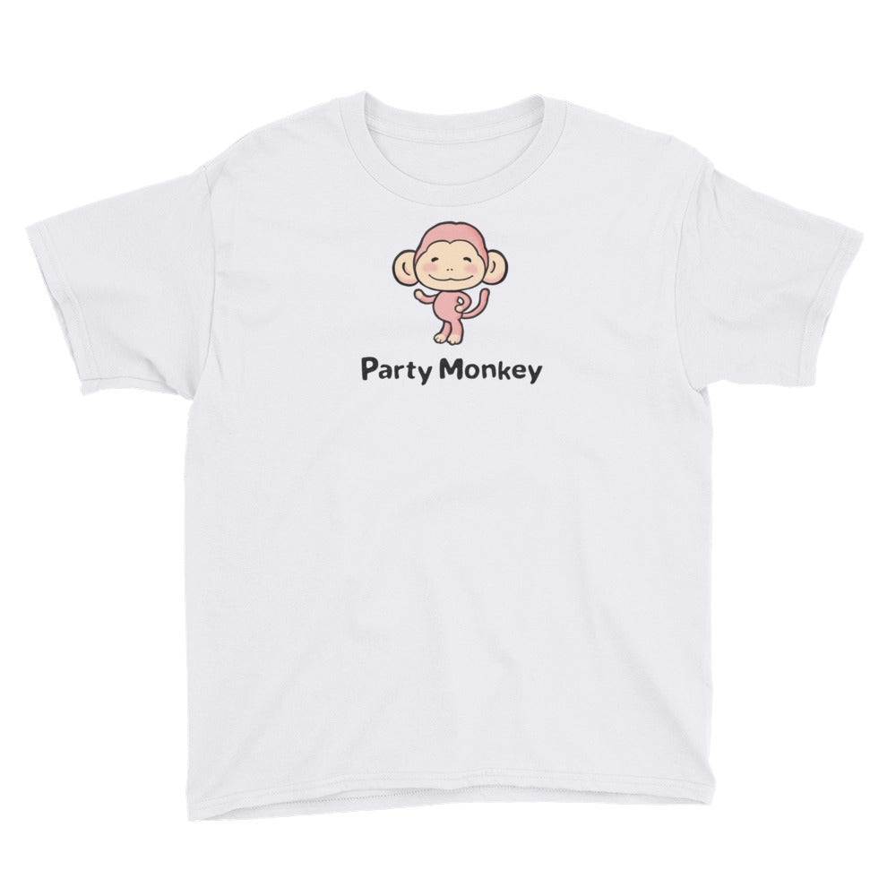 Uncle Bobo's Party Monkey Youth T-Shirt White