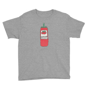 Uncle Bobo's Ketchup on your Youth T-Shirt Gray