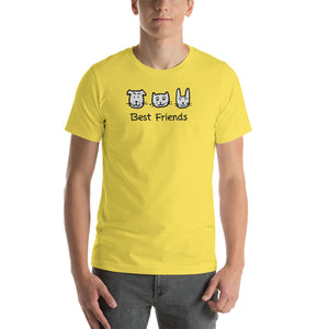 Uncle Bobo's Best Friends Unisex T-Shirt Yellow