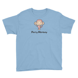 Uncle Bobo's Party Monkey Youth T-Shirt Light Blue