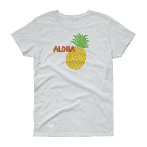 Uncle Bobo's Hawaii Pineapple Women's T-shirt Ash