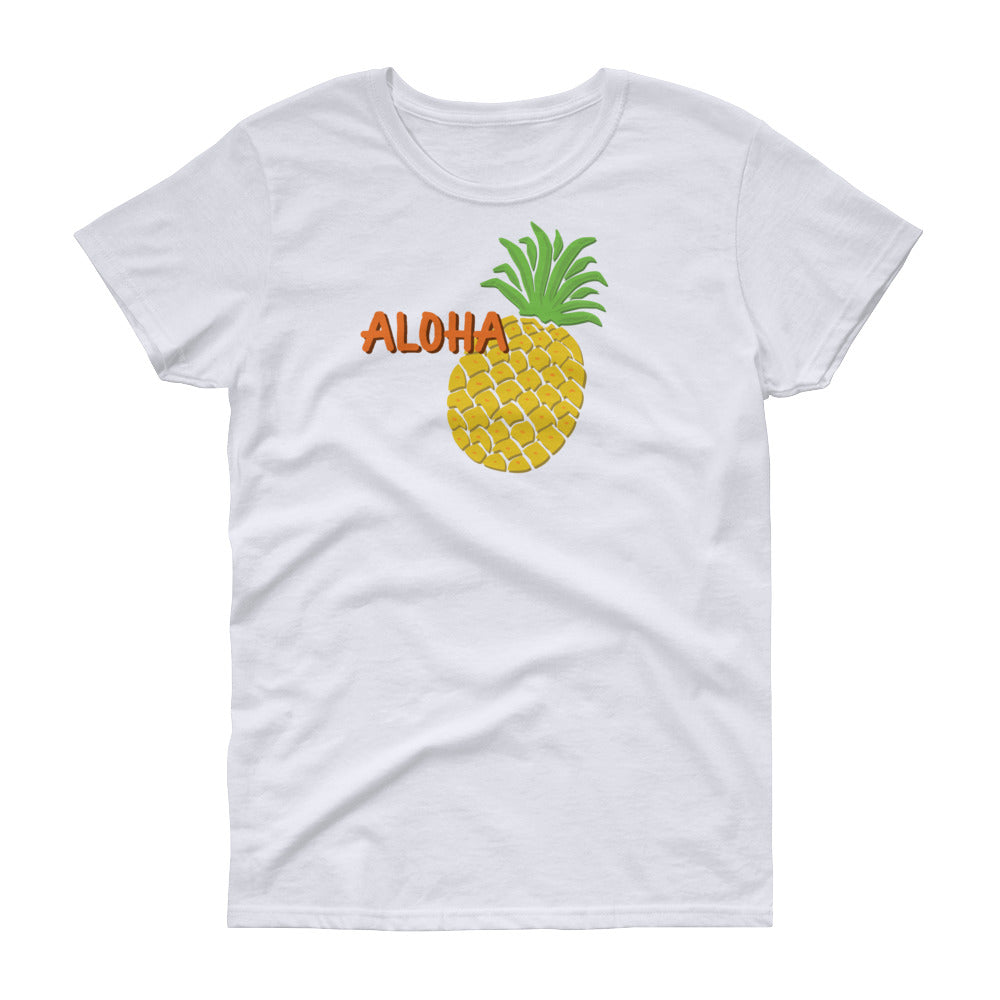 Uncle Bobo's Hawaii Pineapple Women's T-shirt White