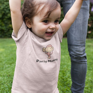 Party Monkey Infant Bodysuit Baby Onesie