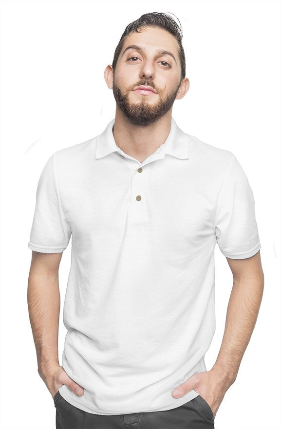 White Polo Plain - Gold Rush Clothing Co.