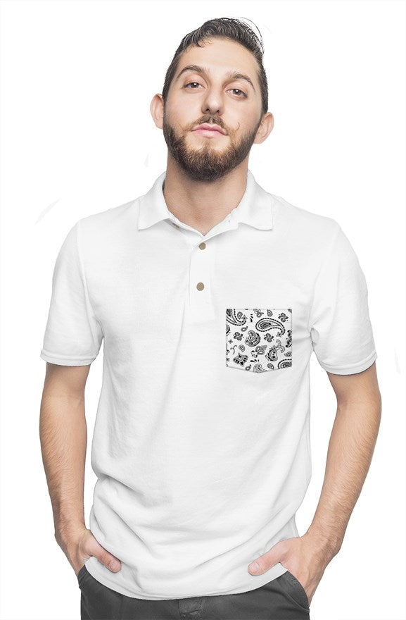White Polo - Gold Rush Clothing Co.