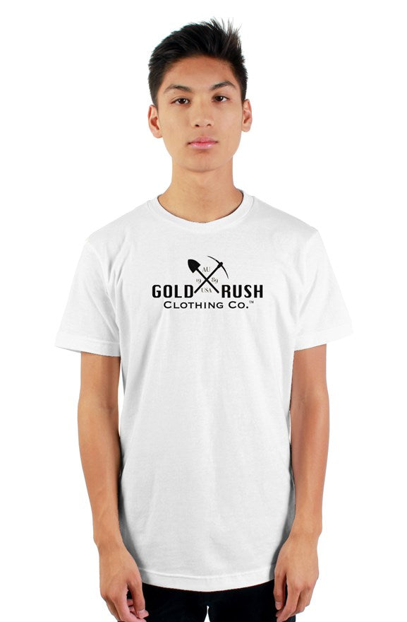 White T-Shirt - Gold Rush Clothing Co.