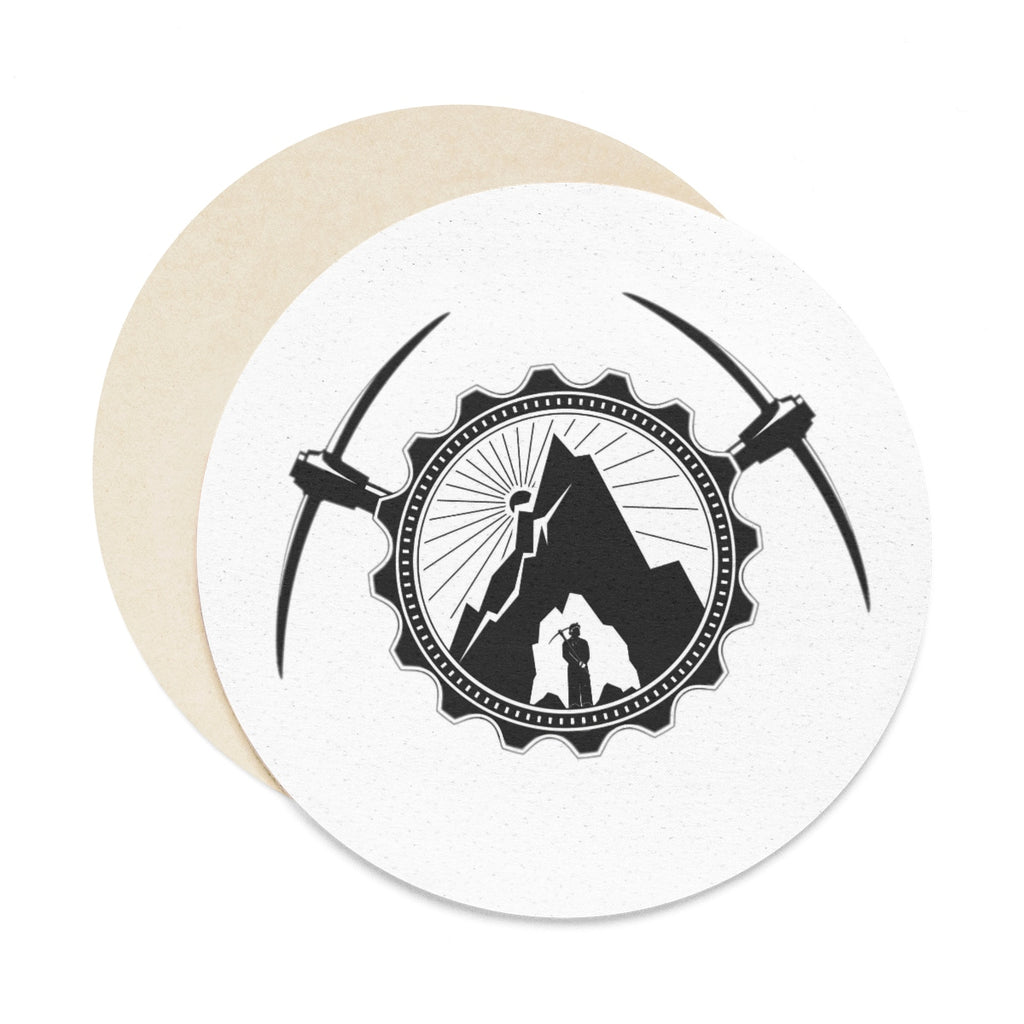 Round Paper Coaster Set - 6pcs - Gold Rush Clothing Co.