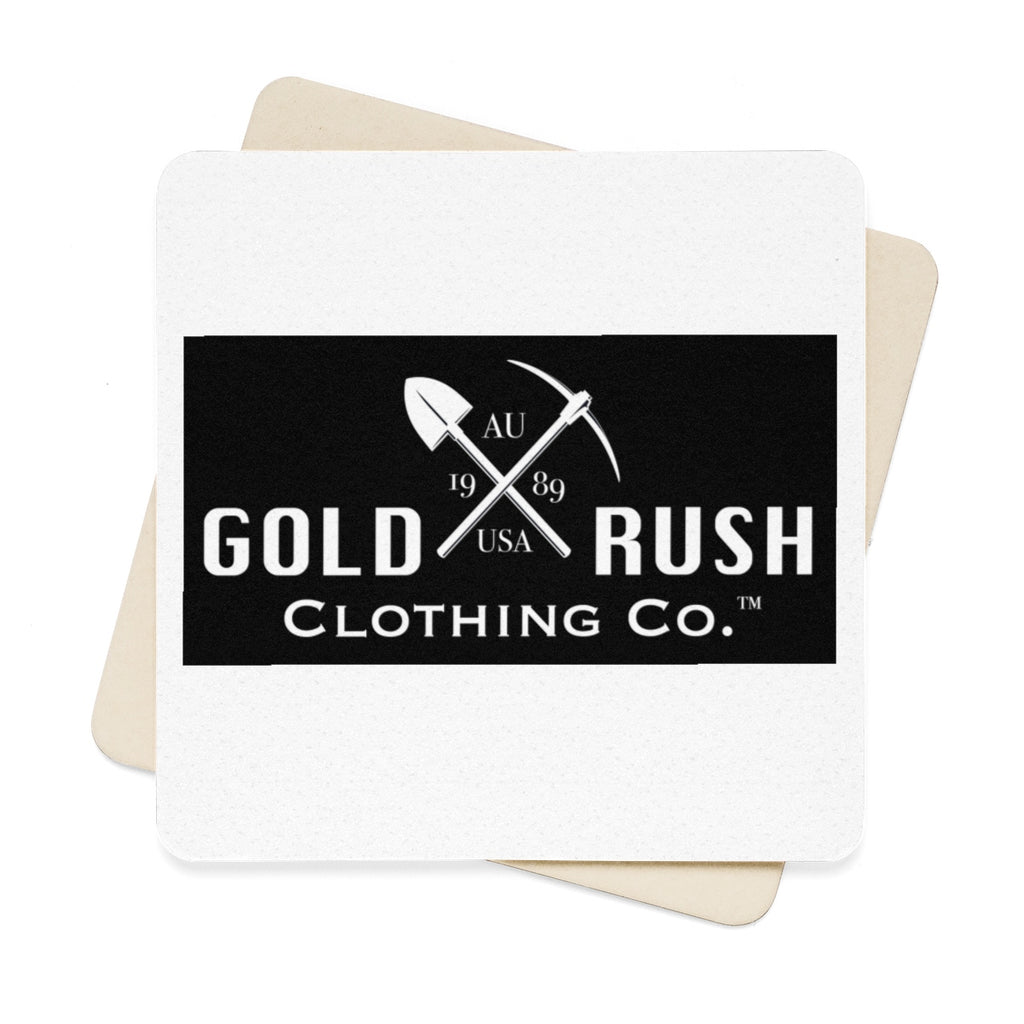 Square Paper Coaster Set - 6pcs - Gold Rush Clothing Co.