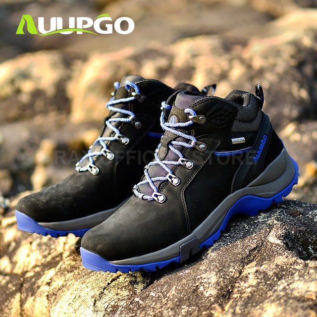 Waterproof Hiking Boots For Men Breathable Winter Hiking Shoes Men Lightweight Climbing Sport Shoes Hiking Mountain Boots Man