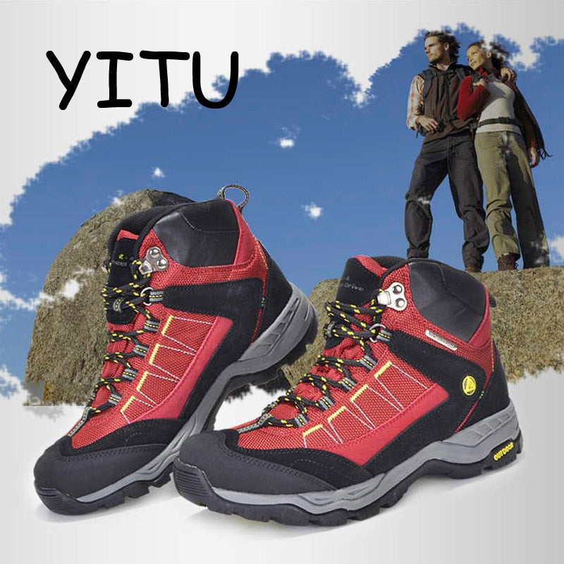 YITU Outdoor Mens Hiking Boots Waterproof Breathable Trekking Hiking Shoes Woman Mountain Climbing Hunting Boots Sport Sneakers