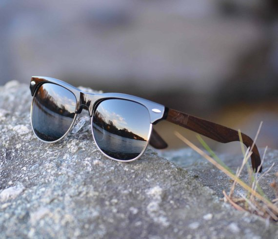Polarized Wood Sunglasses. Ebony Wood. Mens Sunglasses. Womens Sunglasses. Personalized Sunglasses. Groomsmen Gift.