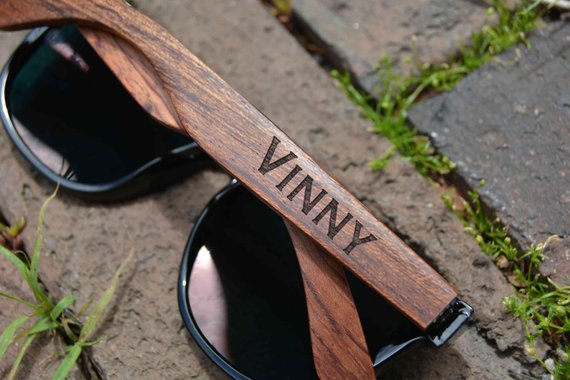 Personalized Wood Sunglasses. Polarized Wooden Sunglasses.Groomsmen Gift. Engraved Wooden Sunglasses. Mens Sunglasses. Womens Sunglasses