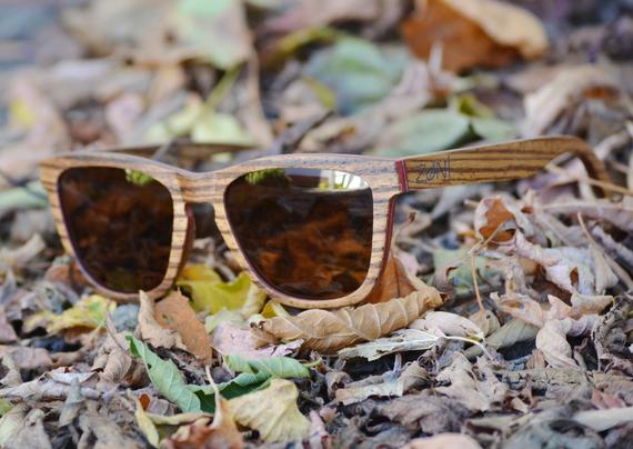 Zebra Wood Sunglasses. Personalized Sunglasses. Mens Sunglasses. Womens Sunglasses. Anniversary Gift. Groomsmen Sunglasses