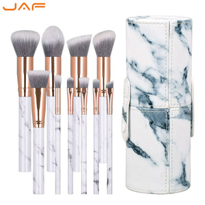 Marble Pattern Makeup Brushes 10 PCS
