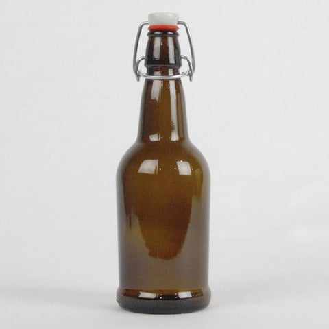 Amber EZ Cap 16 oz Bottle