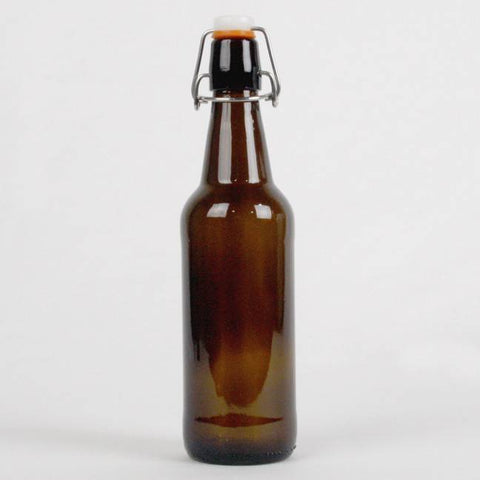Amber Flip Top Bottle, 16 oz.