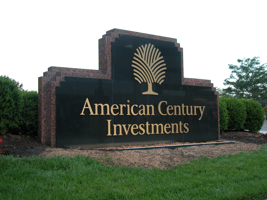 Monument Sign created for American Century Investments