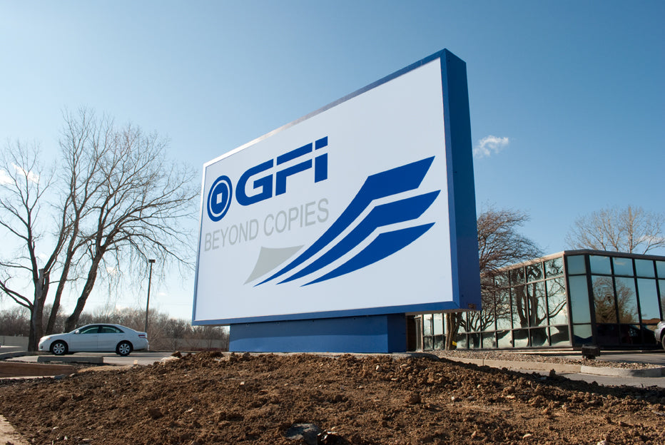 Monument Sign created for GFI Digital