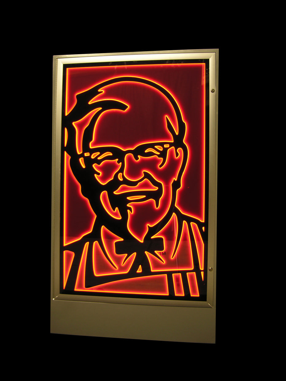 Artlite LED Illuminated Cabinet created for KFC