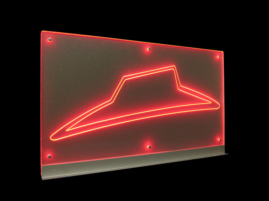LED Illuminated Slimline Engraved Branding Panel created for Pizza Hut
