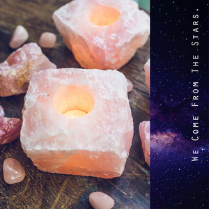 Rose Quartz Candle Holders