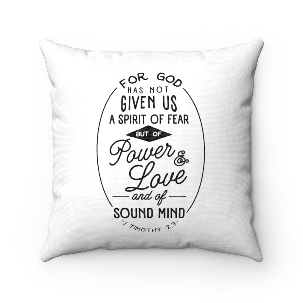 NO SPIRIT OF FEAR PILLOW COVER