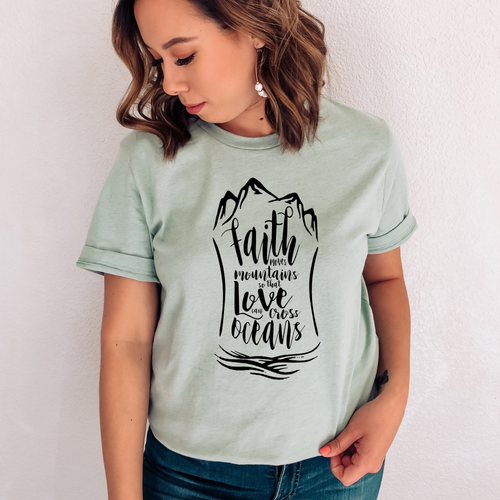 FAITH MOVES MOUNTAINS SHORT SLEEVE TEE | BLACK