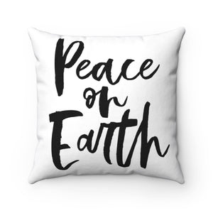 PEACE ON EARTH CHRISTMAS PILLOW COVER