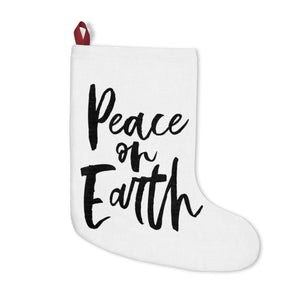 PEACE ON EARTH CHRISTMAS STOCKING