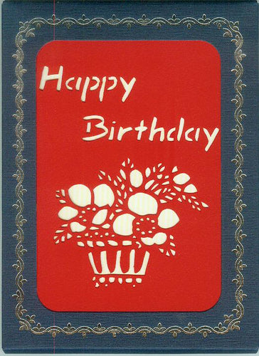 Evergreen Cards USA - 10012 Birthday Flowers 10-Pack Hand-cut Greeting Cards