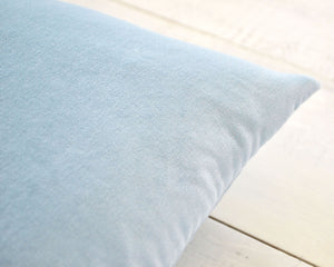 Personalized Embroidered Blue Velvet Pillow Cover