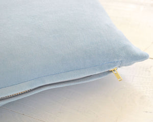 Baby Blue Velvet Pillow Cover