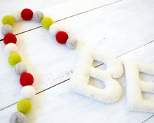 BE MERRY Felt Holiday Garland