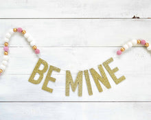 Felt Ball & Letter Garland - 2cm Pink, Gold & White