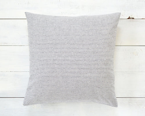 Black and White Pinstripe Pillow Cover