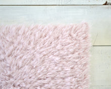 Blush Faux Fur Pillow Cover