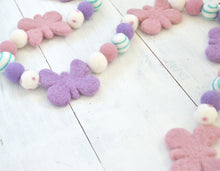 Felt Ball Garland - Butterfly