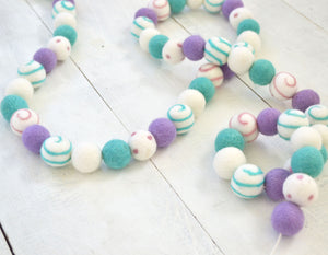 Felt Ball Garland - Dreamy Swirl Ball