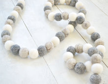 Felt Ball Garland - Gray Fall