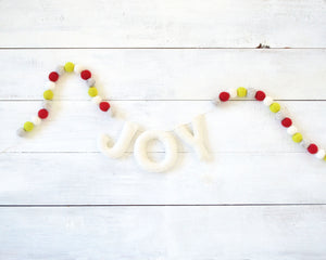 JOY Felt Holiday Garland