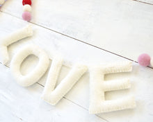 LOVE Felt Holiday Garland