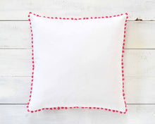 Magenta Pink Pom Pom Pillow Cover