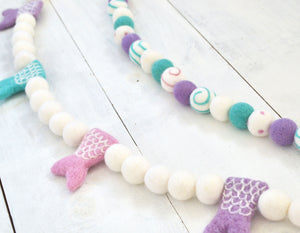 Felt Ball Garland - Mermaid