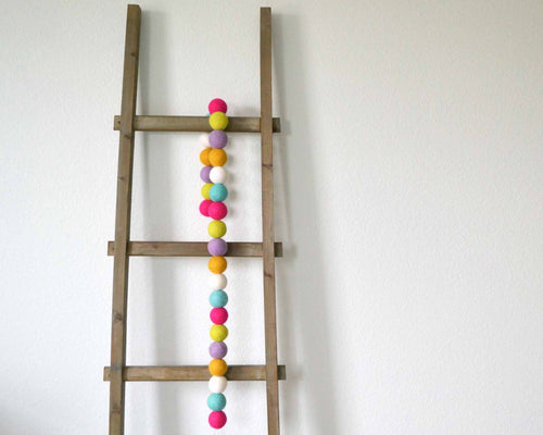 Felt Ball Garland - 4cm Multicolor