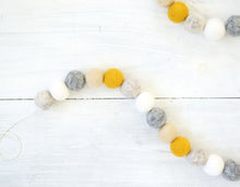 Felt Ball Garland - Mustard Fall