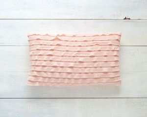 Ruffle Pillow Cover - Pink
