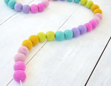 Felt Ball Garland - Rainbow
